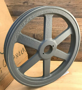 Browning 2 groove Sheave V Belt Pulley 12 75 12 3 4 Od Cast Iron 2bk130h 3x570
