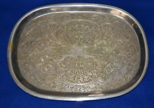 Small Vintage Silver Plate Dressing Table Trinket Tray Makers Marks J494