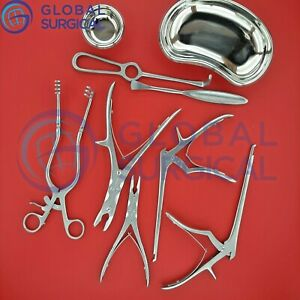 Neuro Spinal Surgery Surgical Orthopedic Instruments 10 Pcs Set Best Quality Gs