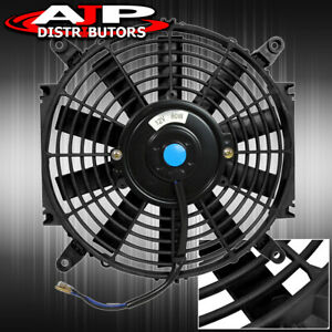 Slim Fan Black Push Pull Universal 16 12v 80w Electric Radiator Cooling Fan