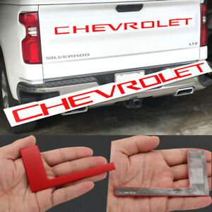 Red Tailgate Chevrolet Letters For Silverado 2019 2020 Plastic Inserts New