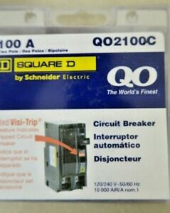 Square D 100 Amp Two Pole Circuit Breaker Qo2100c New In Box Free Shipping