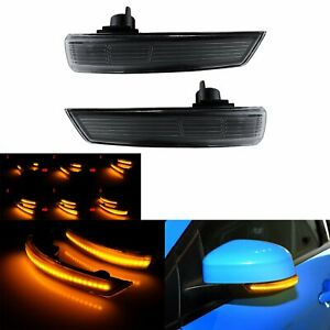 2x Led Dynamic Turn Signal Mirror Sequential Light For 2012 17 Ford Focus 3 Mk3