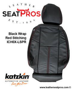 Katzkin Leather Seat Covers 7 13 Chevrolet Silverado Crew Extended Cab Black Red