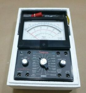 Simpson Electric 260 6xlpm Milliammeter Multimeter 1000v 1000 Ohm 500ma