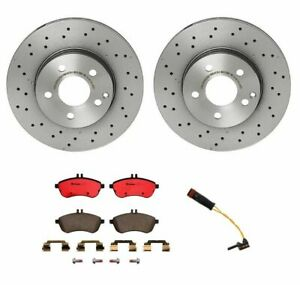 Brembo Front Brake Kit Ceramic Pads And Disc Rotors For Mercedes W204 C250 C300