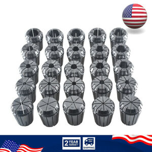 Er32 Collet Set 1 16 3 4 By 16th And 32nd Industrial Grade Accurate 25pcs