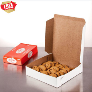 Cake And Pie Boxes Cookie Bakery Disposable 10 X 10 X 2 1 2 White 250 Pack