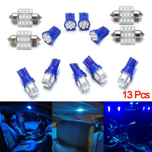 13 Pcs Auto Car Led Lights Accessories Interior For Dome License Plate Lamp 12v
