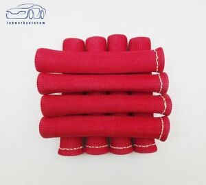 8pcs Red 1200 Spark Plug Wire Boots Heat Shield Protector Sleeve Sbc Bbc