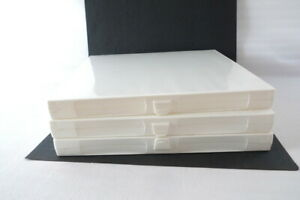 3 Unikeep 3 ring Binders Clear Overlay White Case 1 Stand Up File W inserts