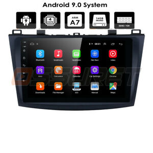For 2010 2013 Mazda 3 9 Android 9 0 Car Radio Stereo Navi Gps Canbus Bluetooth