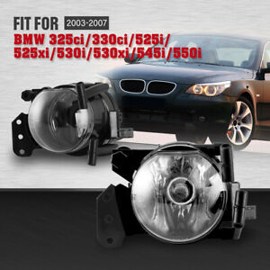 Fog Lights For Bmw 5 Series E60 3 Series E46 Clear Lens Bumper Assembly 9006 Set