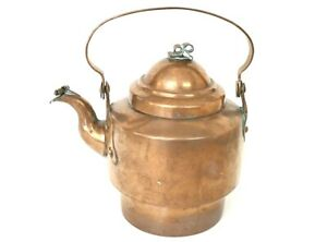 Vintage Hand Crafted Copper Tea Kettle 8 1 2 Tall