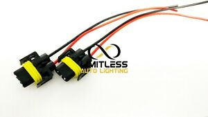 2pc H11 H8 880 881 Led Headlight Fog Light Female Plug Pigtail Wire Harness