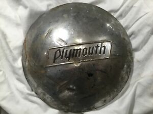 1937 1938 Vintage Plymouth Hubcap Dog Dish