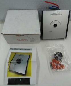 Raffle System 385205 Solid State Exhaust Fan Variable Speed Controller