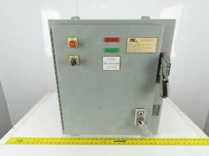Electrical Enclosure 24x21x8 W back Plate 30a Fusible Disconnect