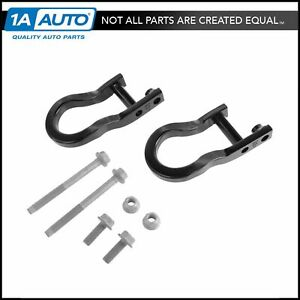 Oem Front Bumper Black Tow Hook Package Kit Pair For Chevy Gmc Pickup Truck
