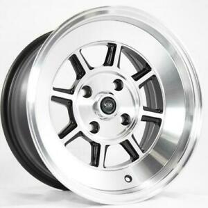 Rota Shakotan 15x9 4x100 0 67 1 Full Royal Black Set Of 4 Wheels