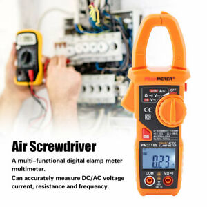 Peakmeter Pm2118s Lcd Backlit Digital Ac dc Volt Amp Ohm Clamp Meter Multimeter