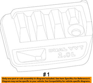 Chrysler Oem Engine Appearance Cover Engine Cover 4891715ab
