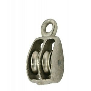 2 Double Solid Eye Wire Rope Pulleys Pk 5