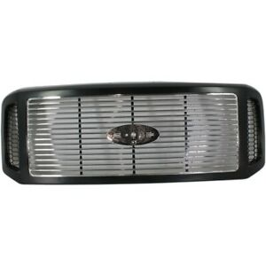 Grille Assembly For 2005 07 Ford F 250 Sd Harley davidson Ed Prmd W chrome Insrt