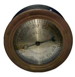 Oil Well Supply Company Pressure Regulator Gauge Steampunk Gage Vintage Antique
