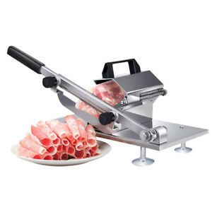 Adjustable Manual Frozen Meat Food Slicer Stainless Steel Mutton Beef Bbq Cutter
