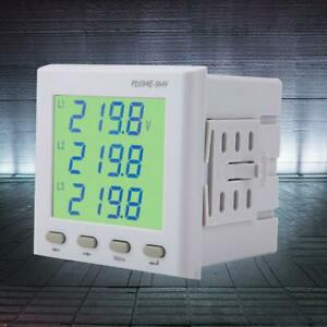 Multi function Lcd Harmonic Energy Meter Two channel Power Monitor Ac dc80 270v