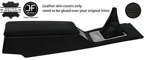 Black Stitch Console armrest shift Leather Covers Fits Datsun 280zx S130 78 83