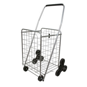 Helping Hand Fq39905 Heavy Duty 3 Wheel Stair Climbing Folding Cart Silver