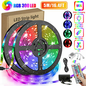 16Ft 3528RGB waterproof SMD 300LED Light Strip Flexible Ribbon Tape lamp DC12V $13.97