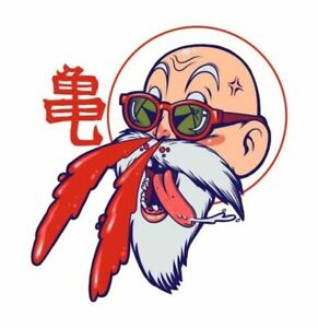 Dragon Ball Master Roshi Happy 3 6 Vinyl Decal Stickers