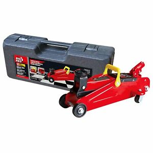 Hydraulic Trolley Jack Big Red 2 Ton W Plastic Case Car Vehicle Lift Service Us