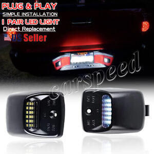 For 2000 2013 Toyota Tundra White Led Tag License Plate Light Bulbs Assembly Kit