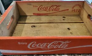 VINTAGE COCA COLA WOODEN CRATE/CASE CHATTANOOGA 1972