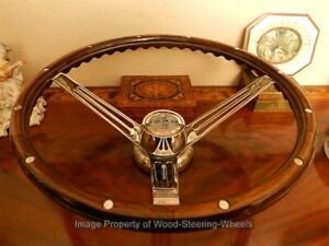 1970 Shelby Steering Wheel Wood Original With Hub To Fit 1970 To 1973