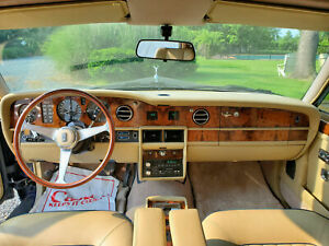 Rolls Royce Silver Spirit Silver Spur Wood Steering Wheel Ivory Horn Button New