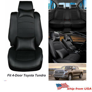 Left Right Reclinable Black White Racing Seats W 2 Sliders Bucket Leather Seats