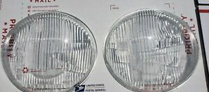 Vintage Vw Volkswagen Bus Type 2 Bosch Headlight Lens Set 50 67 Transporter Van