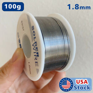 63 37 1 8mm Tin Lead Rosin Core Flux Solder Wire For Electrical Solderding 100g