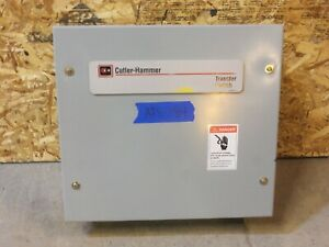 Cutler Hammer 30 Amp Ats Automatic Transfer Switch 240v 120v 1 Single Phase