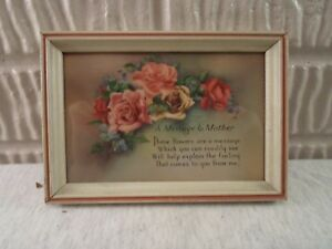 Old Wood Picture Frame Print Poem To Mother 4 X 6 Inches 967