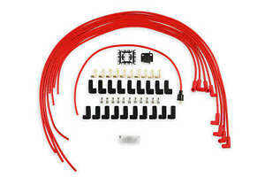 Accel 5041r Spark Plug Wire Set 8mm Universal Red Wire With Red 90 Deg