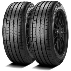 2 Pirelli Cinturato P7 Run Flat 205 55r16 91w High Performance Run Flat Tires