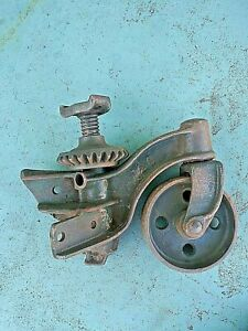 Antique Weaver Mfg Industrial Ford Factory Cast Iron Large Car Dolly Caster