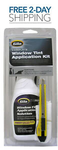 Cars Window Film Tint Application Solution Kit Rubber Squeeze Lint Cloth Clutter