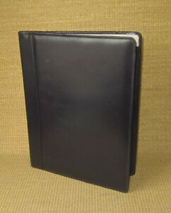 Monarch folio Shapiro Black Genuine Leather Notepad Padfolio Cover
